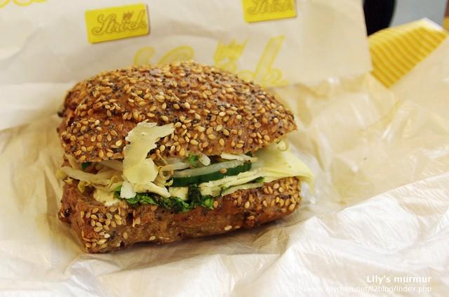 我點的歐式漢堡,熱量不高,清爽好吃!