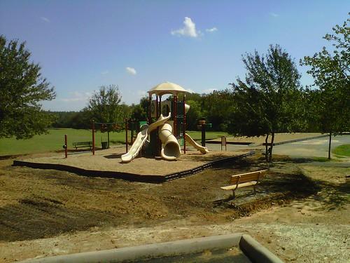 Crozet Elementary's way-too-small playground.