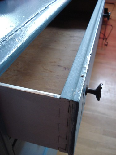 Blue dresser drawer