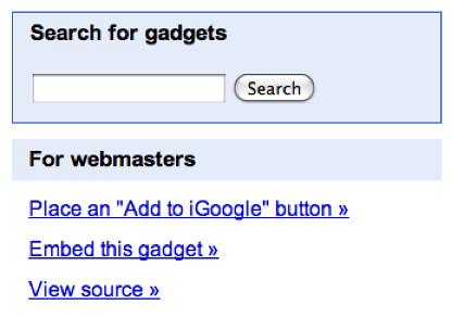 More iGoogle Gadget info
