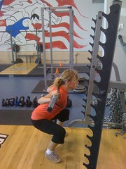 Squat with bar (no added weight ... yet)