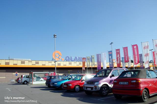 Nova Gorica鎮內的大賣場,我們躲到這裡來休息納涼一下,當天下午的天氣實在太炙熱了。
