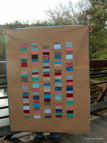 Stacked coins quilt