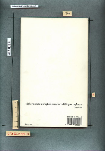 Christopher Isherwood, La violetta del Prater, Einaudi 1988. Quarta di copertina.