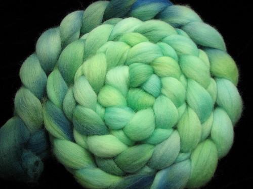 Seafoam - Hand Dyed Wool Roving Gradient Corriedale