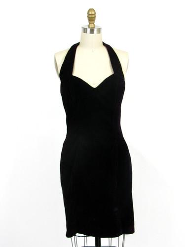 90's velvet halter dress