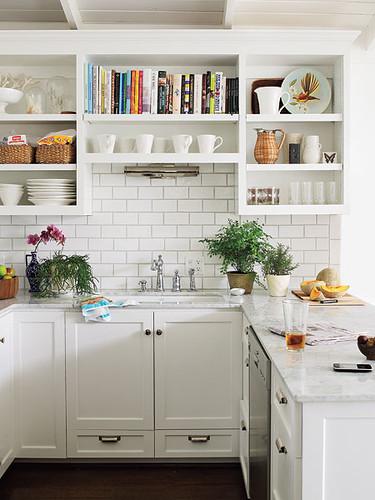 Southern Living shelf over sink