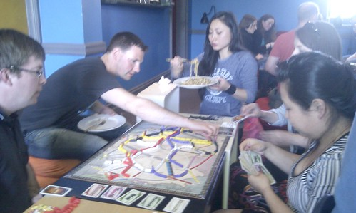 Ticket To Ride boardgame @ Cafe Games
