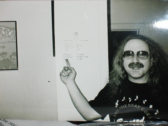 Jon Hammond in dressing room at The Fillmore