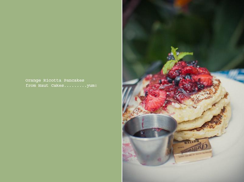 orange ricotta pancake