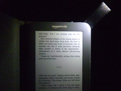 Kindle with Case Light on