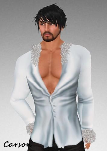 MHOH #115 - Silent Swan Ruffled Shirt
