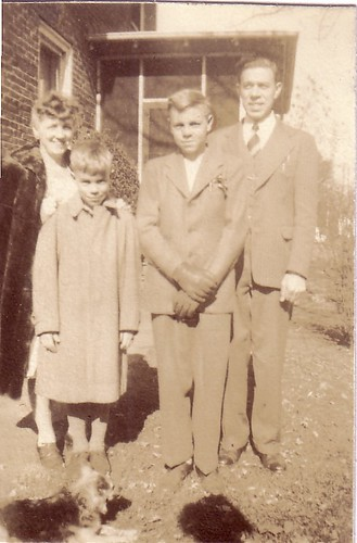 Aunt Anna, David, Louis, Jr., Uncle Louis