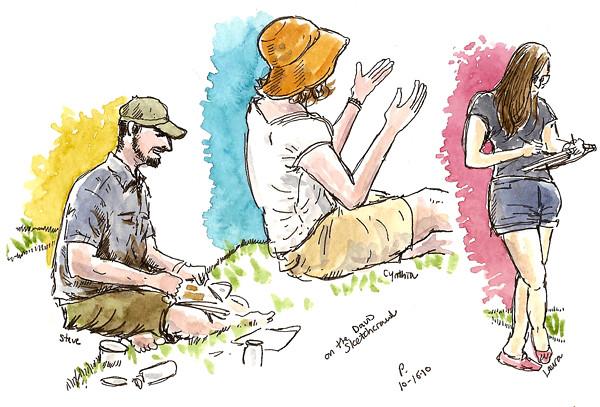 three sketchers