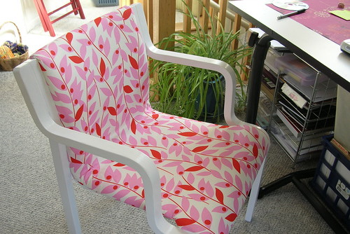 Nicey Jane recovered chair