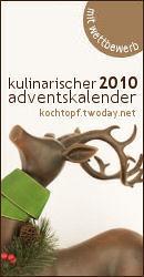 Kulinarischer Adventskalender 2010 mit Wettbewerb