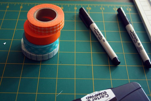 craft supplies that are also orange? double plus bonus!