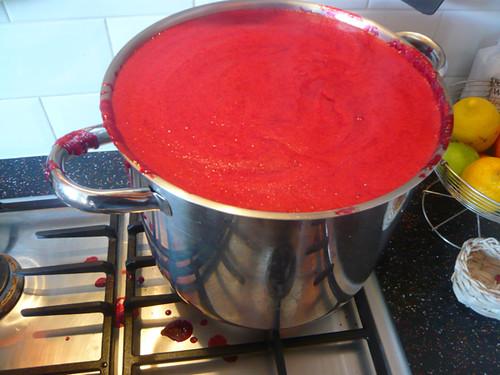 Damson Jam making