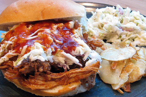 Dutch Oven R&R Pulled Pork Sandwich