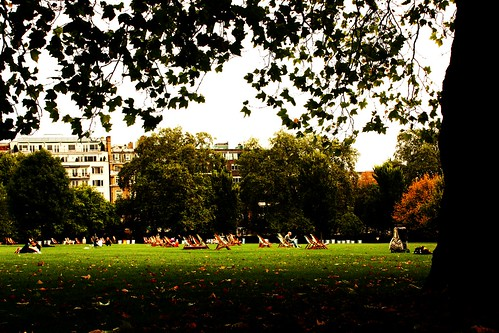 Sitting in Green Park