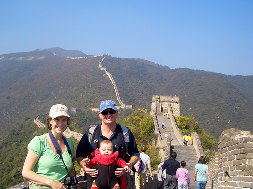 Us on the Great Wall of China