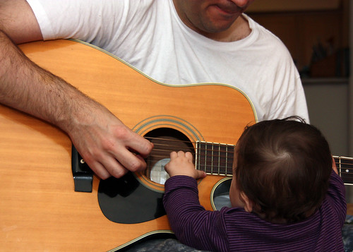 writing a song with daddy
