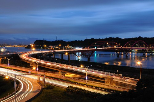 關渡橋夜景 Guandu Bridge