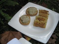 Les Cols_Bocadillo caliente de maíz y blini de fajol y fesols de Santa Pau