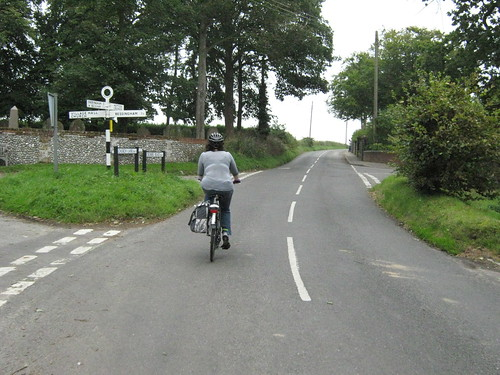 Ruth, cycling through Gresham