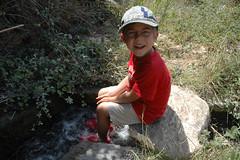 Naxos: Erfrischendes Fußbad
