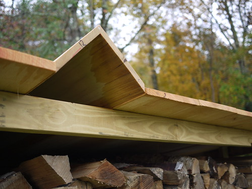 Wood shed - detail