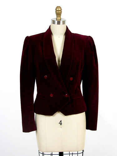 80's velvet smoking jacket