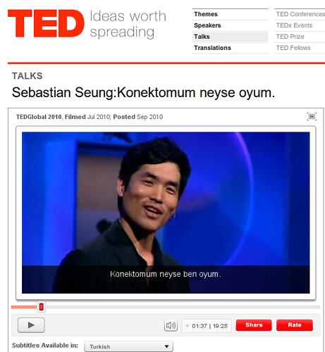 Sebastian Seung: I am my connectome (Konektomum neyse oyum)