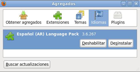 Lenguaje español en firefox