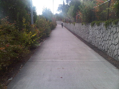 Sunset highway bike path