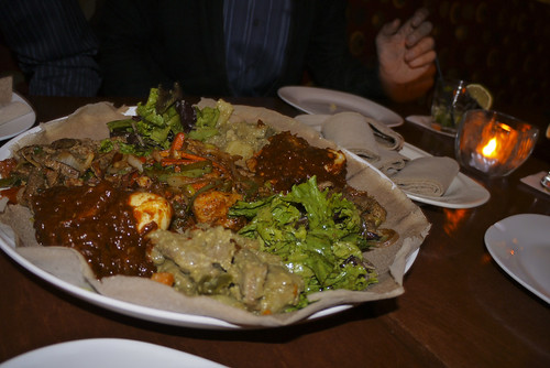 ethiopian food of Sheba Piano Lounge, Fillmore, SF