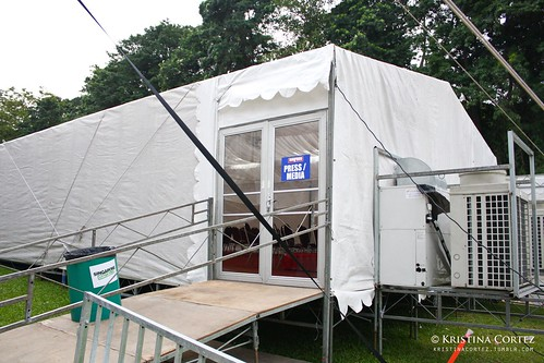 Media tent