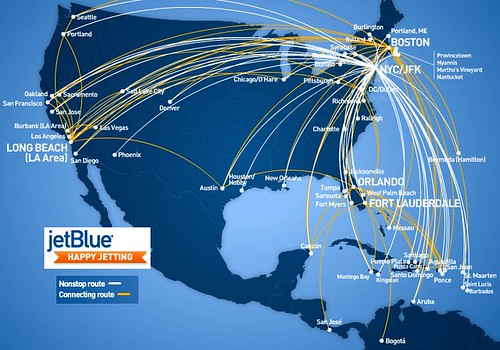 JetBlue Routes from JFK