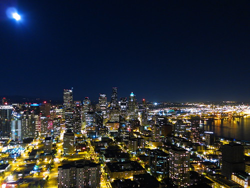 Moon Over Downtown