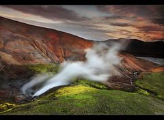 Geothermal Colors - Landmannalaugar, Iceland by orvaratli