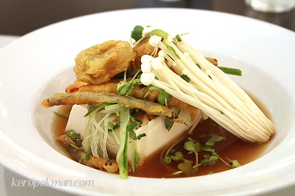 Miso Tofu with vegetable tempura