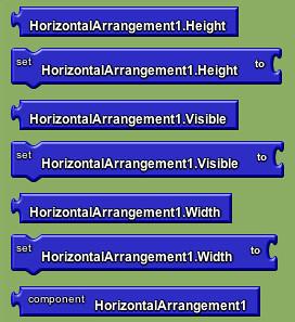 Google app inventor - horizontal layout