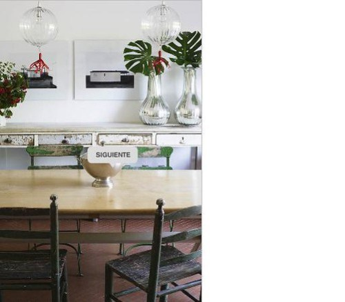 Isabel Lopez Quesada Casa Barritz dining room
