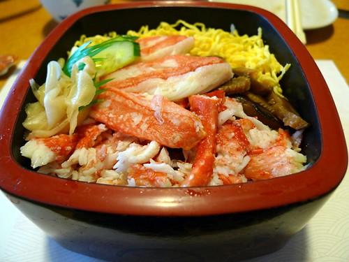 crab chirashi