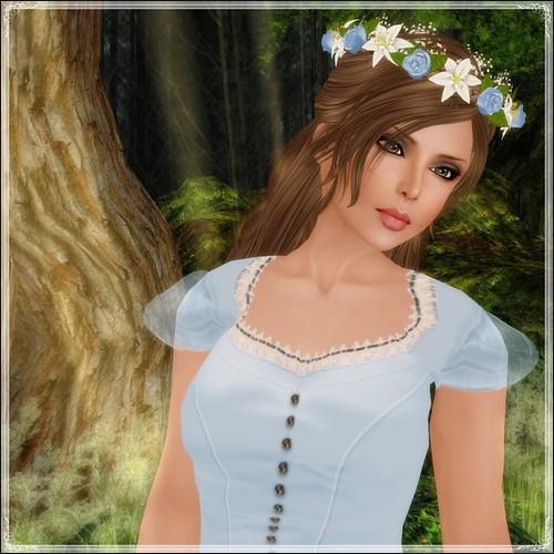 Hatpins - Branwen Wreath - Sky Rose