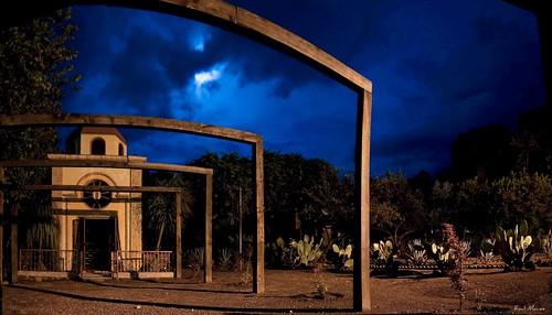 Panoramica de 3 fotos, Capilla Hacienda la Cofradia