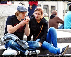 Tourists in Pause - Amsterdam