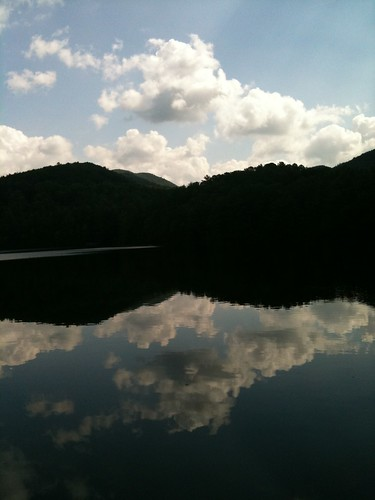 A view from Lake Unicoi