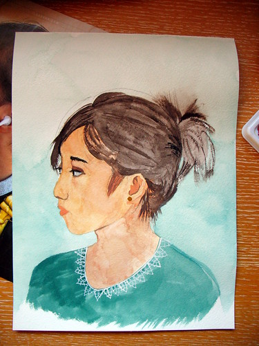 First watercolor portrait