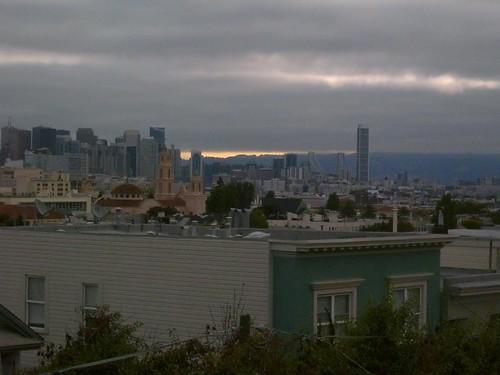 SF skyline, morning, august 2010
